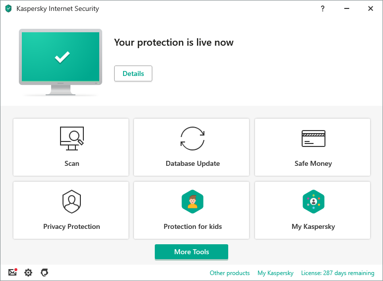 Kaspersky Internet Security Screen shot