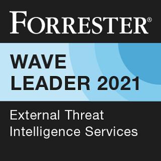 Riconoscimento Leader. Forrester Wave™: External Threat Intelligence Services Q1, 2021