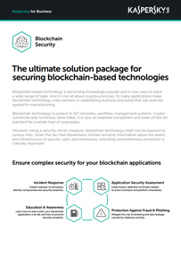 Securing Blockchain Compaines with Kaspersky Blockchain Security