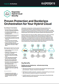 KASPERSKY HYBRID CLOUD SECURITY DATASHEET