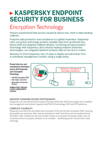 Kaspersky Endpoint Security for Business Encryption Technology - Data Sheet