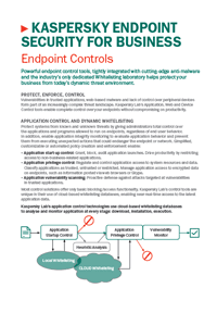 Kaspersky Endpoint Security for Business Control Tools - Data Sheet