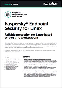 KASPERSKY  SECURITY FOR LINUX - DATA SHEET